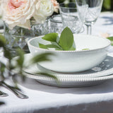 : handmade in Italy white ceramic dinnerware set from Apulia Grottaglie Fasano