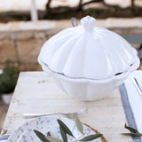 handmade in Italy elegant ceramic soup tureen with lid set from Apulia Grottaglie Fasano