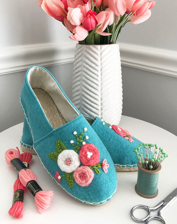 Cozy Rosette Espadrille Add-on Kit and Pattern