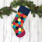 Wool Hexie Stocking PDF PATTERN