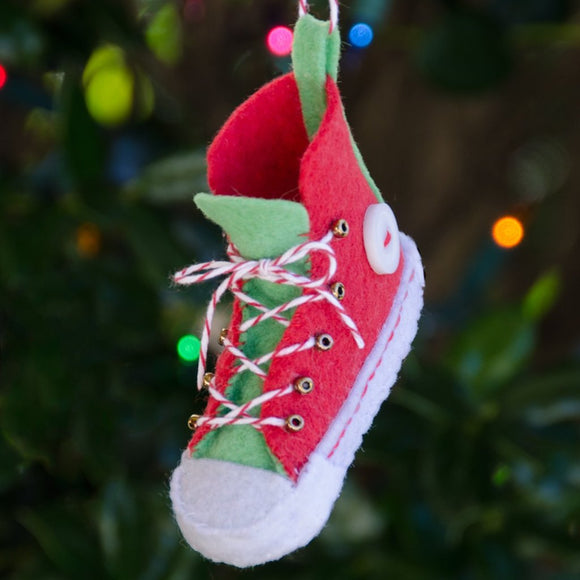 Holiday High-top Ornament PDF PATTERN