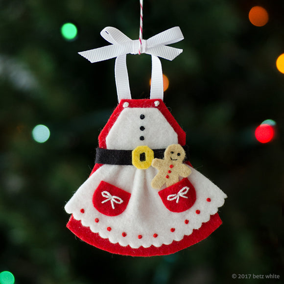 Mrs. C's Apron Ornament PDF PATTERN