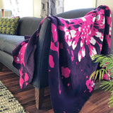 Eco-throw: Bloom, Purple