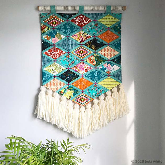 Boho Patchwork Wall Hanging PDF PATTERN