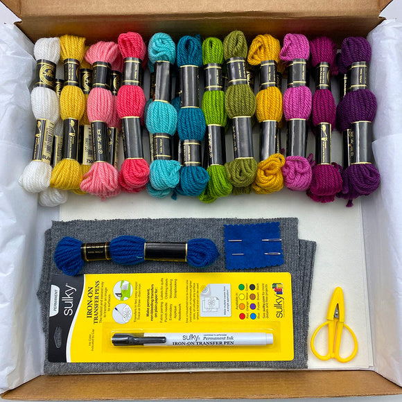 Embroider Your Knits with Flowers - CLASS KIT