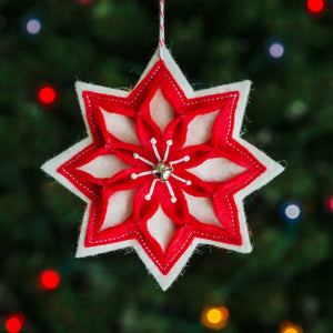 Snow Star Ornament PDF PATTERN
