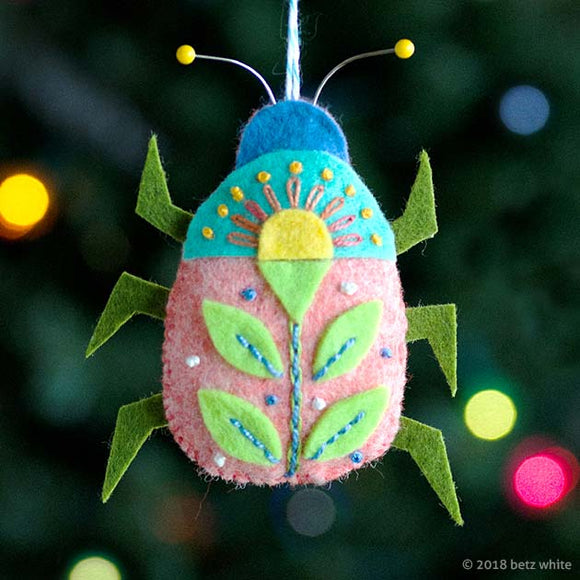 Beetle Bug Ornament PDF PATTERN