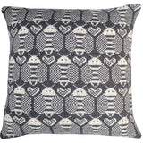 Wool Fair Isle Pillow Cover: Grey Bees