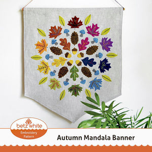 Autumn Banner Embroidery PDF pattern
