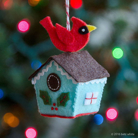 Birdhouse Ornament PDF PATTERN