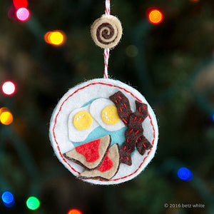 Wakey Wakey Eggs and Bakey Ornament PDF PATTERN