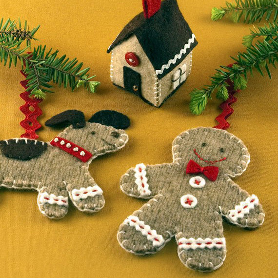 Gingerbread Ornament Set - PDF PATTERN