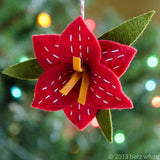Christmas Amaryllis Ornament PDF PATTERN