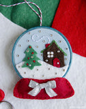 Snow Globe Ornament PDF PATTERN