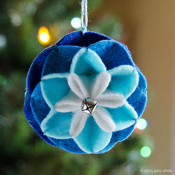 Winter Bloom Ornament PDF PATTERN