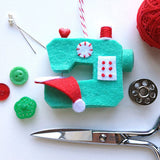 Ho Ho Sew! Sewing Machine Ornament PDF PATTERN
