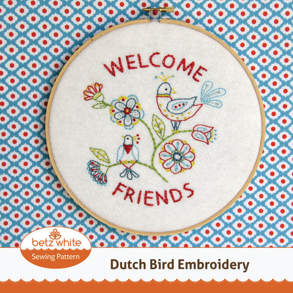 Dutch Bird Embroidery PDF pattern