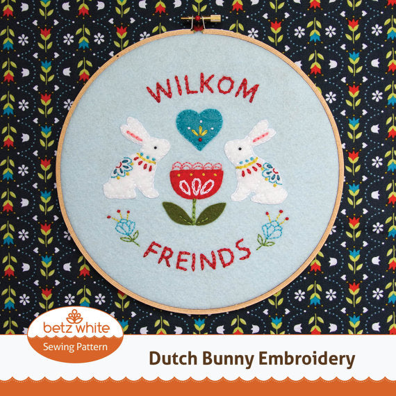 Dutch Bunny Embroidery PDF pattern
