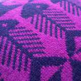 Wool Fair Isle Pillow: Magenta Herringbone