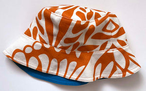 Reversible Bucket Hat Sample - ModMax Moth print