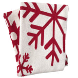 Eco-throw: Snowflake on Ivory (Last Chance!)