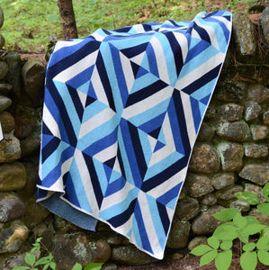 Eco-Throw: Patchwork Blues