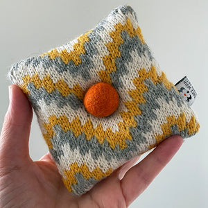Swatch Study Pincushion: Grey, Yellow and White
