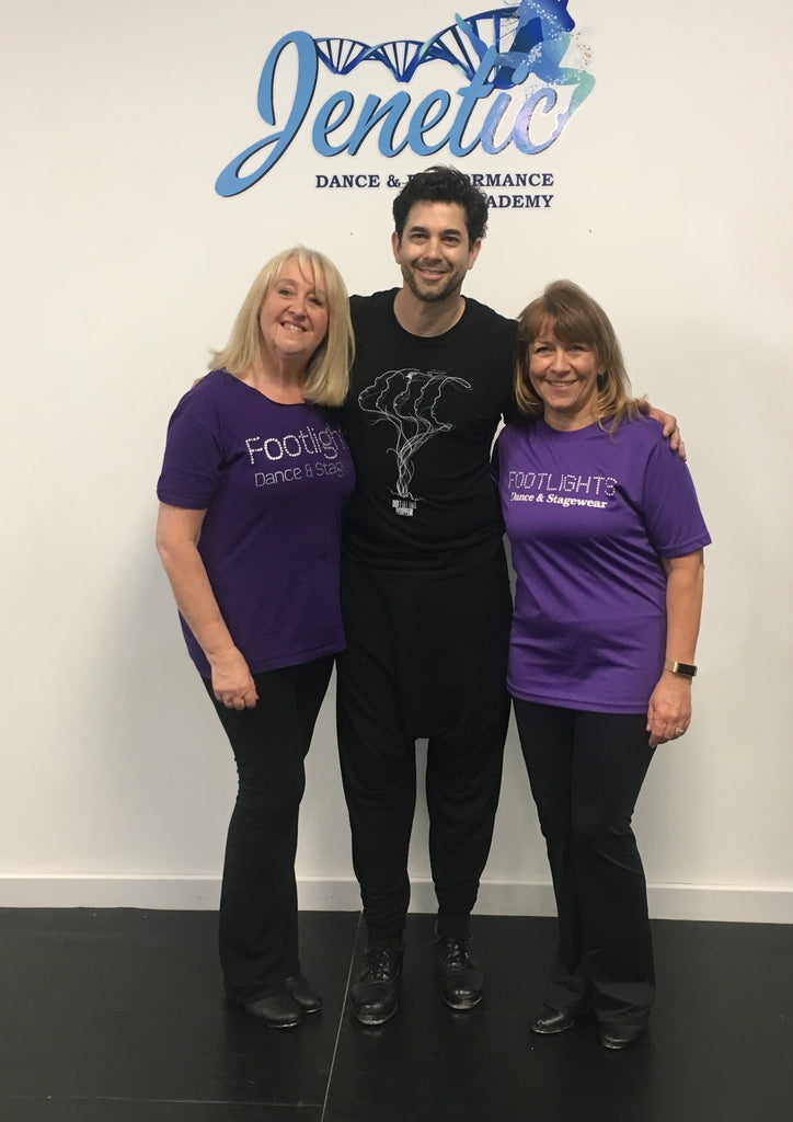 Footlights Team dancing with Adam Garcia - check us out!!