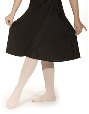 Wrapover Calf Length Skirt