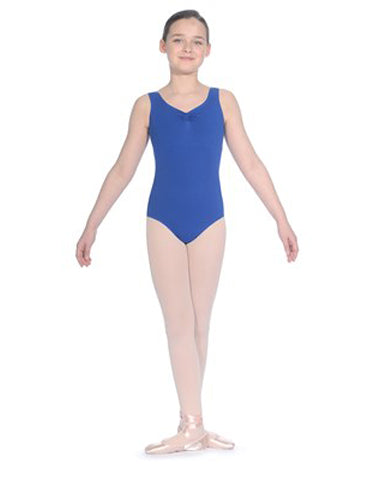 """NATASHA"" Cotton Sleeveless Leotard"