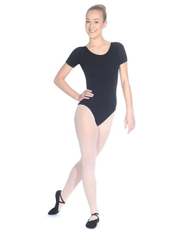Short Sleeved Cotton Leotard