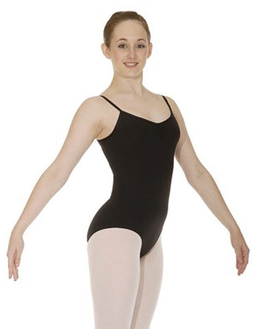 """HELENE"" Cotton Ruched Camisole Leotard"