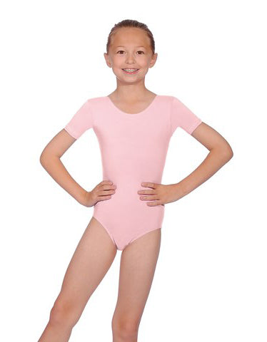 Short Sleeve Cotton Leotard