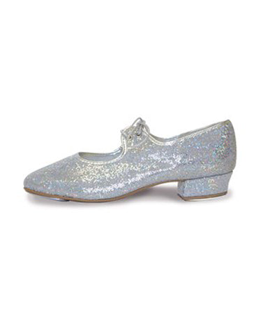 Low Heel Silver / Hologram Tap Shoes