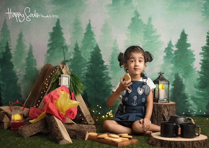 Forest 15x10 FT Vinyl Photo Backdrops,Redwood Forest in California USA Nature Outdoors Landscape Woods Park Background for Child Baby Shower Photo Studio Prop Photobooth Photoshoot