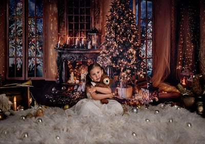 Christmas background living room photography backdrop