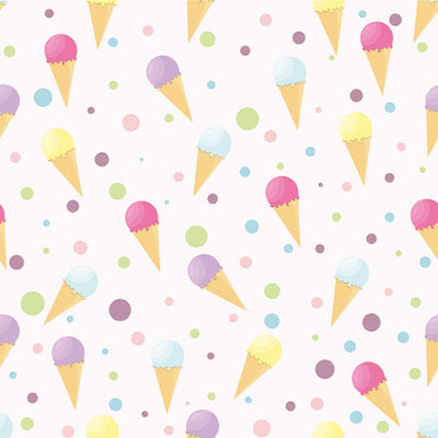 Summer ice cream theme backdrop pattern background