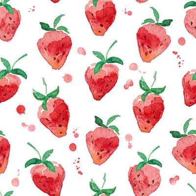 Children/Newborn watercolor strawberry pattern background-cheap vinyl backdrop fabric background photography