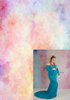 Blue maternity dress combination-cheap vinyl backdrop fabric background photography