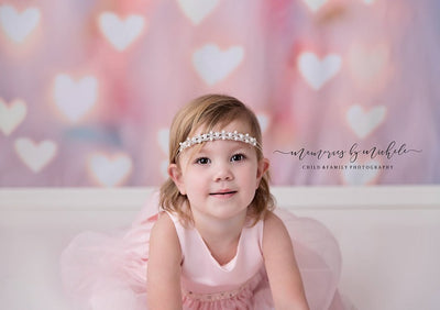 Boken lights love heart Valentine's Day backdrop baby-cheap vinyl backdrop fabric background photography