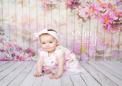 Newborn watercolor painted flower wood backdrop-cheap vinyl backdrop fabric background photography