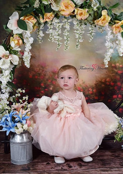 Newborn photo spring flower backdrop-cheap vinyl backdrop fabric background photography