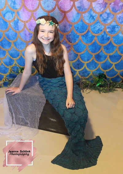 Mermaid scales backdrops summer pattern background