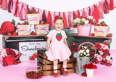 Summer backdrops strawberries background cake smash-cheap vinyl backdrop fabric background photography