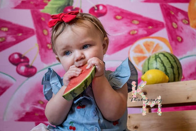 Summer photography backdrop watermelon background-cheap vinyl backdrop fabric background photography