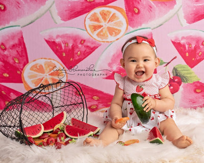 Summer photography backdrop watermelon background