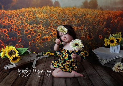 Sunflower backdrops summer scenery background
