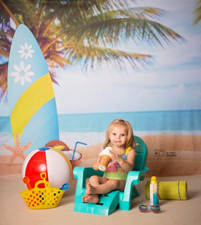 Summer beach backdrop blue sea-cheap vinyl backdrop fabric background photography