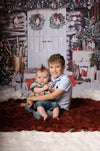 Christmas backdrop for family photography winter snowing background-cheap vinyl backdrop fabric background photography