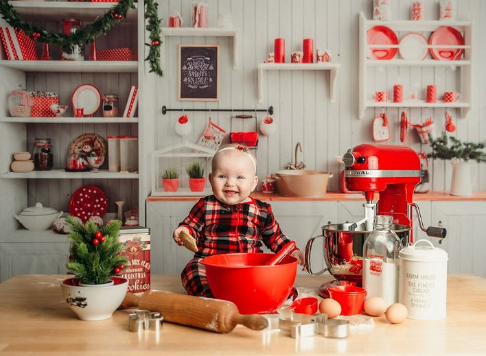 Kitchen Photography Background Christmas Theme Backdrop For